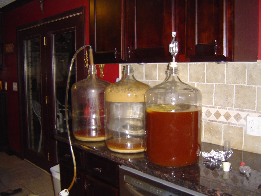 siphoning beer into secondary